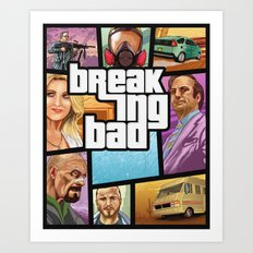 Breaking Bad: GTA  Art Print