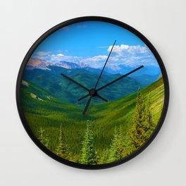 Views Along the Sulphur Skyline Trail in Jasper National Park, Canada Wall Clock