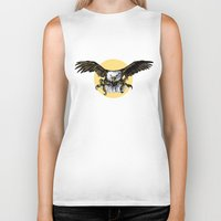 eagle Biker Tanks featuring Eagle by Anna Shell