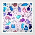 Space Cats Pattern by grapebubblegum