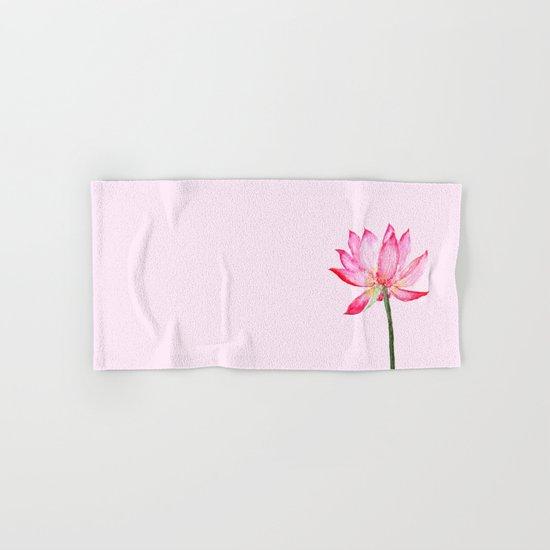 pink lotus flower Hand & Bath Towel