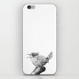 Wren bird ink painting iPhone Skin