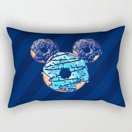 Pop Blue Donut Rectangular Pillow