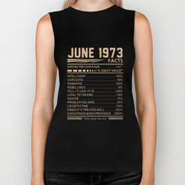 june 1973 facts birthday t-shirts Biker Tank