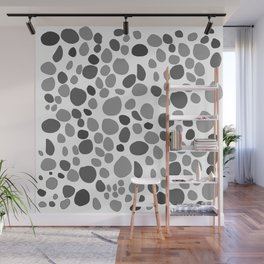 Sea Stones Black and White Wall Mural