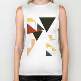 Shapes In Pieces Biker Tank