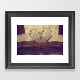 Love of the Book Framed Art Print