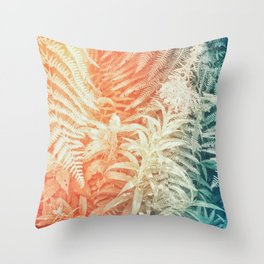 Fern and Fireweed 02 - Retro Throw Pillow