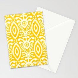 Yellow Ikat Pattern Stationery Cards
