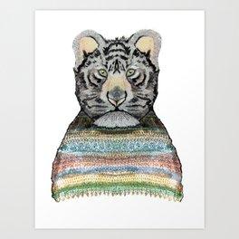 Tiger Knit Art Print