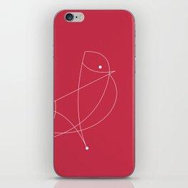 Contours: Cardinal (Line) iPhone Skin