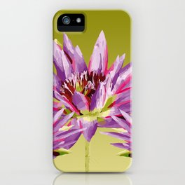 Lotos Flowers violet iPhone Case