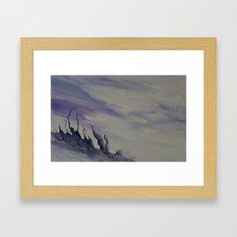 Crags Framed Art Print