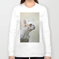 french bulldog Long Sleeve T-shirts featuring French bulldog  by Pauline Fowler ( Polly470 )