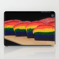 bread iPad Cases featuring Rainbow Bread by Tracy66