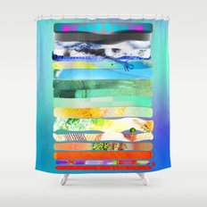 COLLAGE LOVE - a Princess and a pea  Shower Curtain