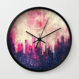 Mysterious city Wall Clock