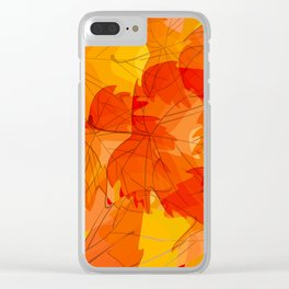 Autumn leaves - sketch Clear iPhone Case