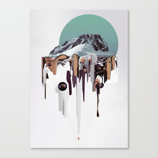 Oozing Mountain Canvas Print