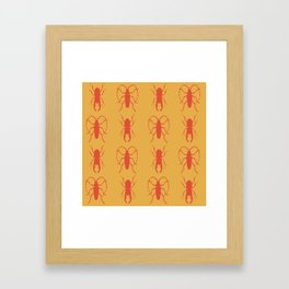 Beetle Grid V3 Framed Art Print