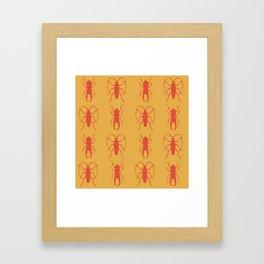 Beetle Grid V3 Framed Art Print