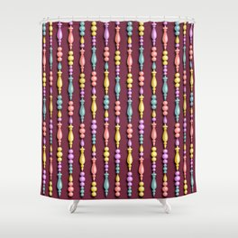 Christmas tree decorations - Red wine Shower Curtain