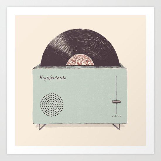 High Fidelity Toaster Art Print