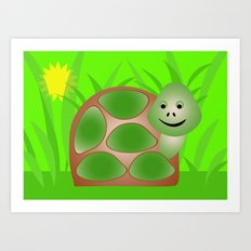 Little Turtle Art Print