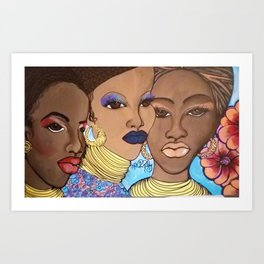 women of color Art Print