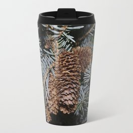 Spruce Cones And Branches Travel Mug