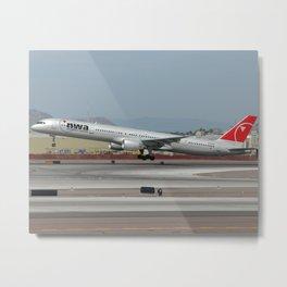 Northwest Airlines 757-300 Takeoff Metal Print