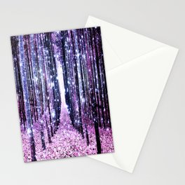 Magical Forest Path Lavender Pink Periwinkle Stationery Cards