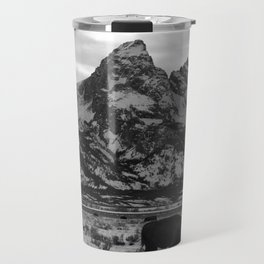 Bison and the Tetons Travel Mug