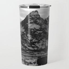Bison and the Tetons Travel Mug