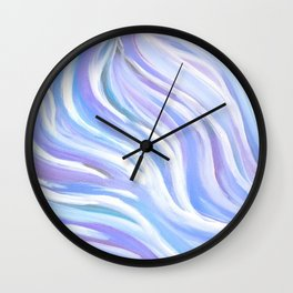 Swirly, Intuitive Abstract Art made with Acrylic Paint. Dream art. Flow Wall Clock