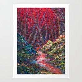 Pequannock River Sunset Art Print