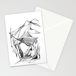 Mount Baker River Bends Stationery Cards
