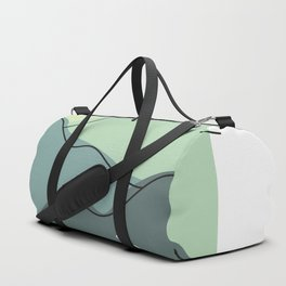 Foggy hills (shades of green) Duffle Bag