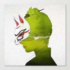 Fox Mask _side face Canvas Print