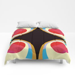 Colorful Retro Shapes Comforters