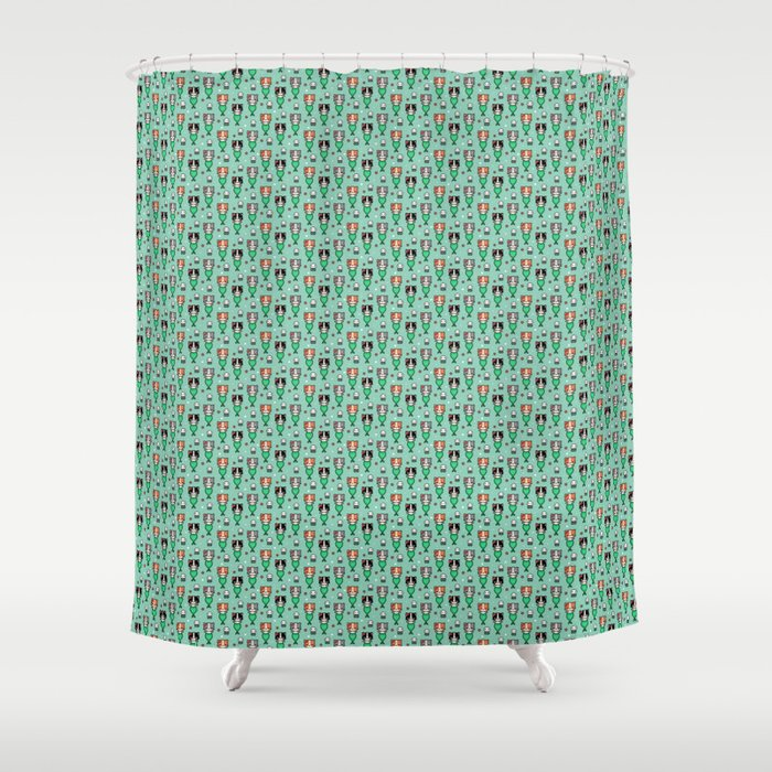 Mermaid Cats Shower Curtain By Emandsprout