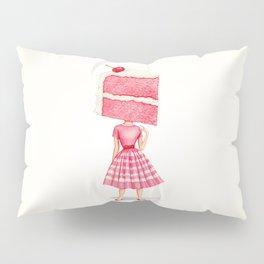 Cake Head Pin-Up - Cherry Pillow Sham