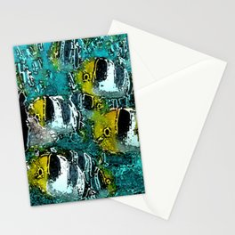 Tropical Fish Abstract Stationery Cards