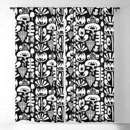 Scandi Flowers White Blackout Curtain