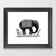 Lucky Elephant Framed Art Print