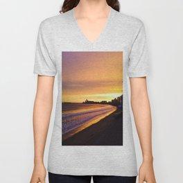 Les Sables d'Olonne - Coucher de soleil  Unisex V-Neck
