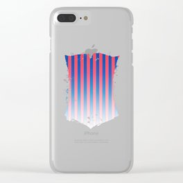 Gradient Stripes Pattern Clear iPhone Case