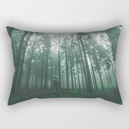 Foggy Eifel Forest Rectangular Pillow