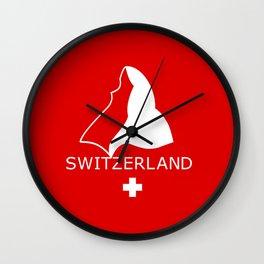 Switzerland and Matterhorn Wall Clock