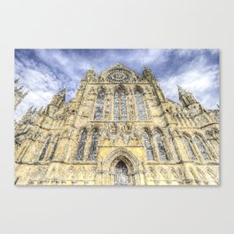 York Minster Cathedral Snow Art Canvas Print